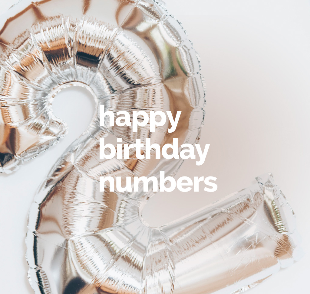 Happy birthday and numbers