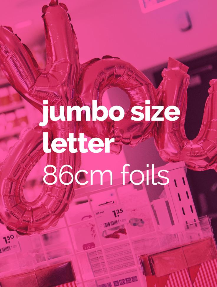Jumbo size letter 86cm foils
