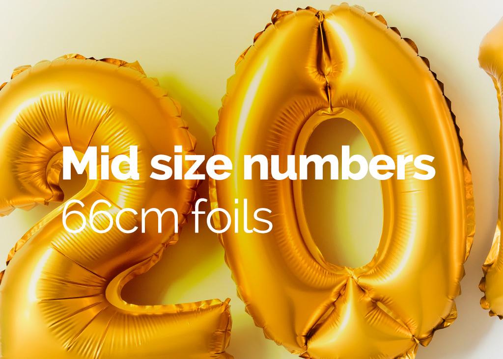Mid size numbers 66cm foils