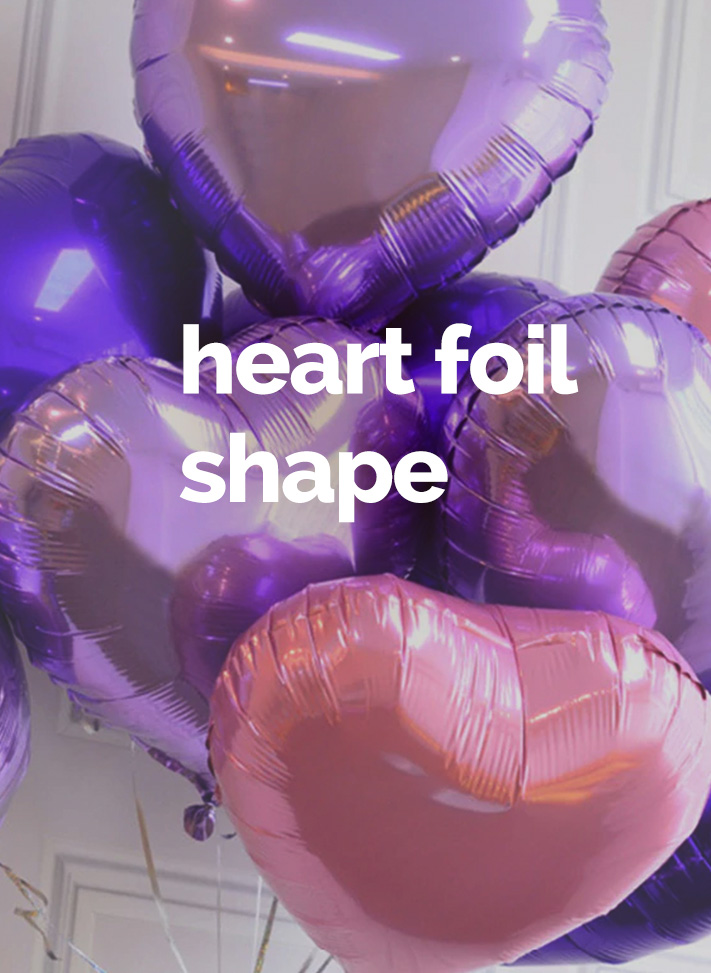 Heart foil shape