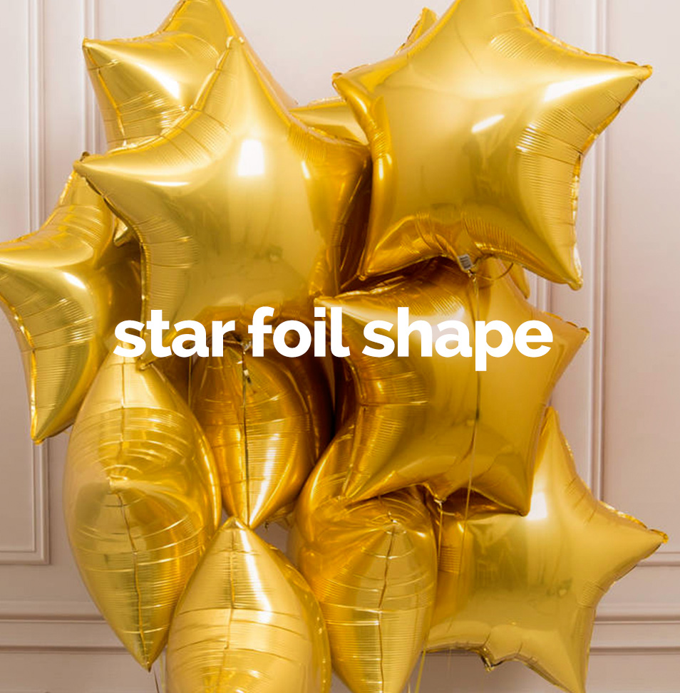 Star foil shape