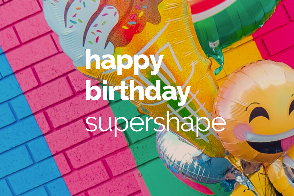 Happy Birthday supershape balloons