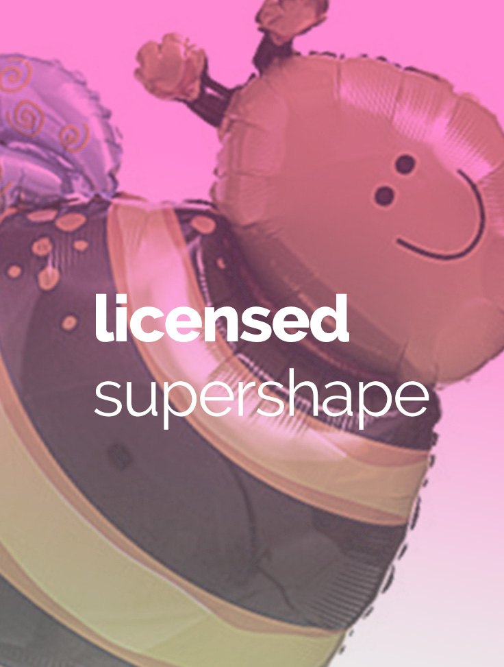 Licenced supershape balloons