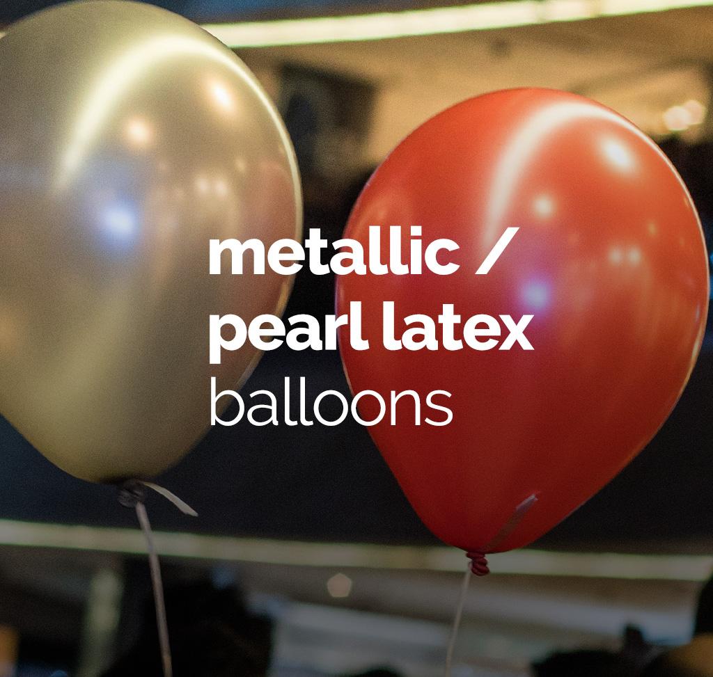 Metallic Pearl Latex Balloons