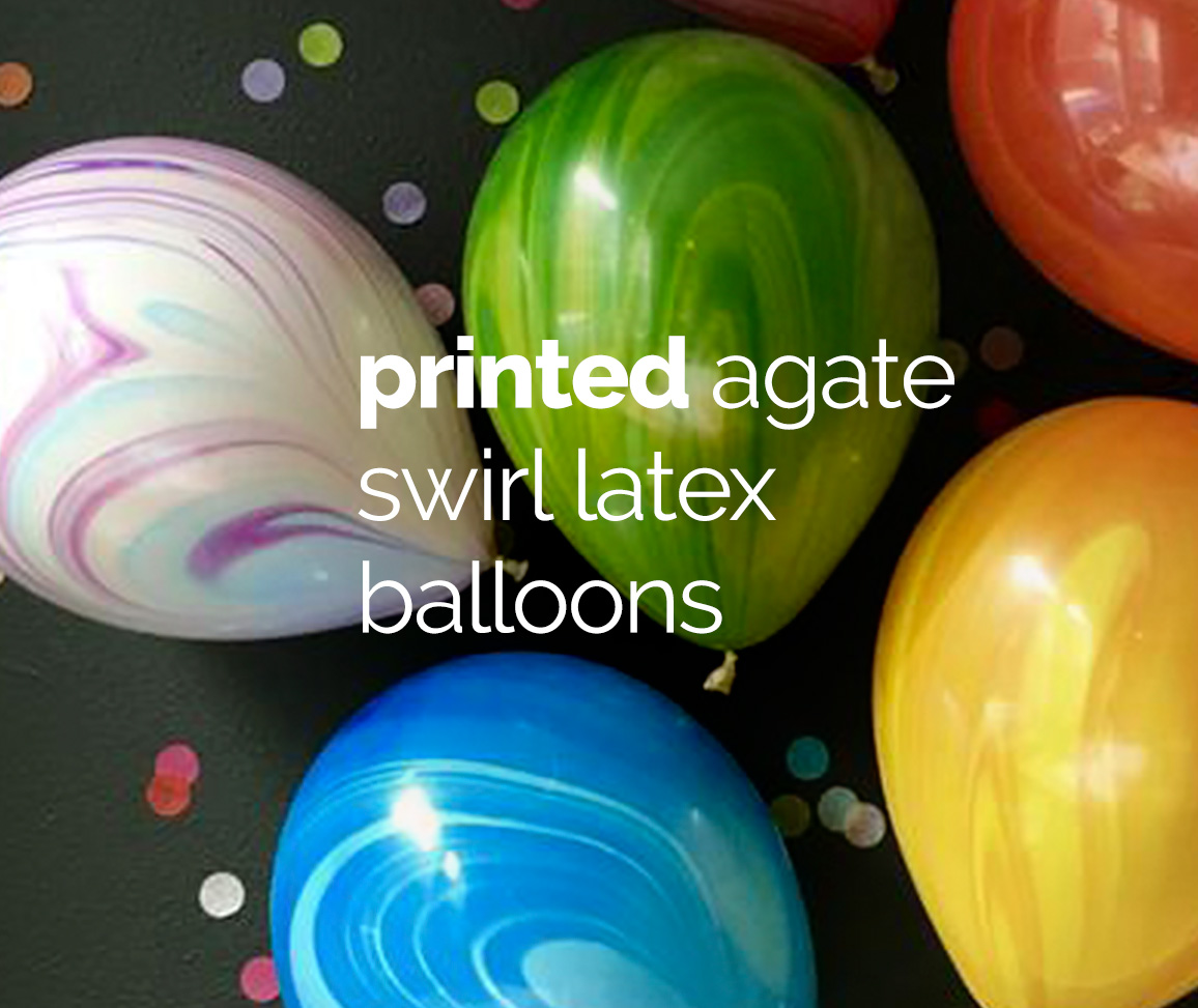 Printed Agate Swirl Latex Balloons
