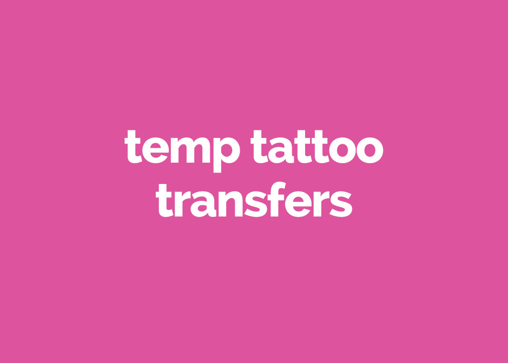 temp tattoo transfers