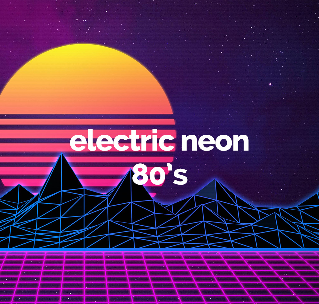 electric neon 80s