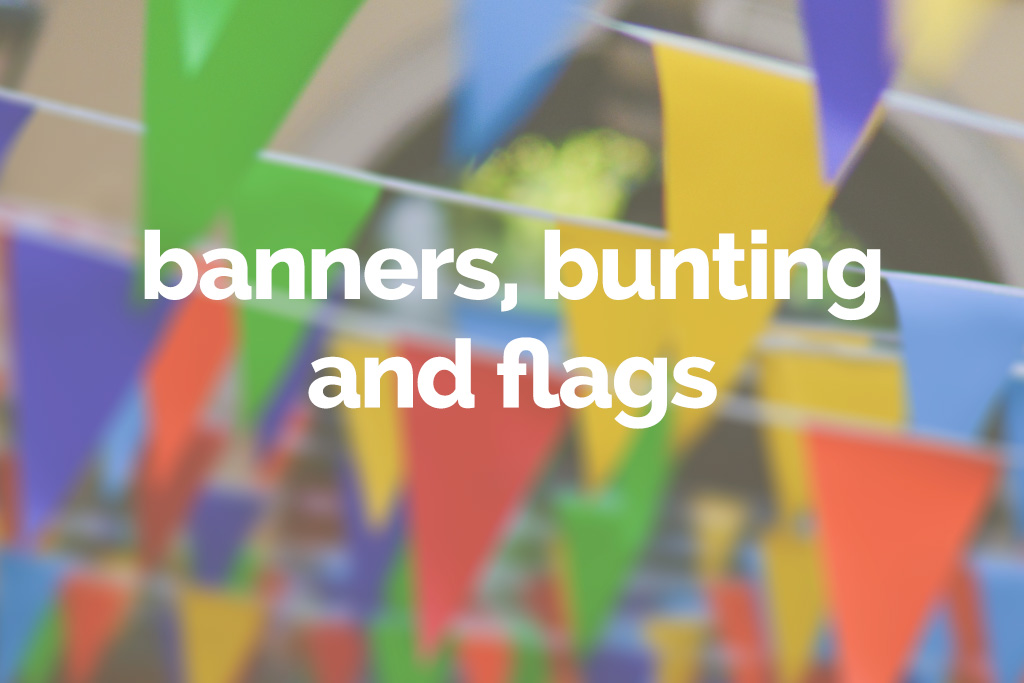 banners bunting and flags