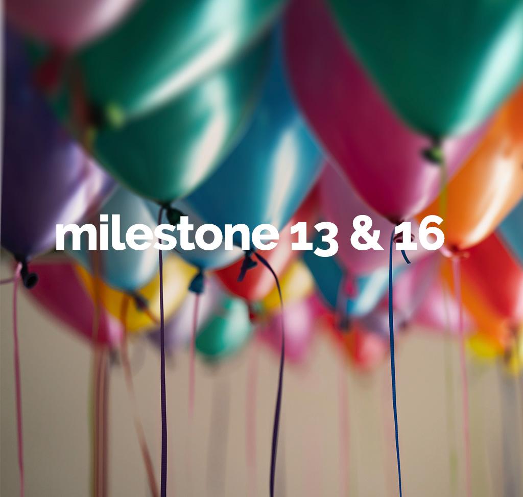 Milestone 13 and 16