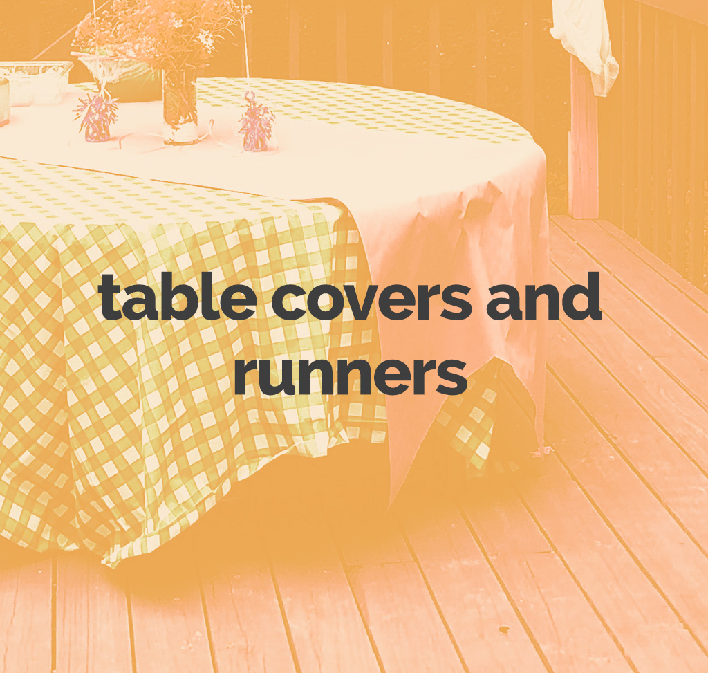 table covers and runners